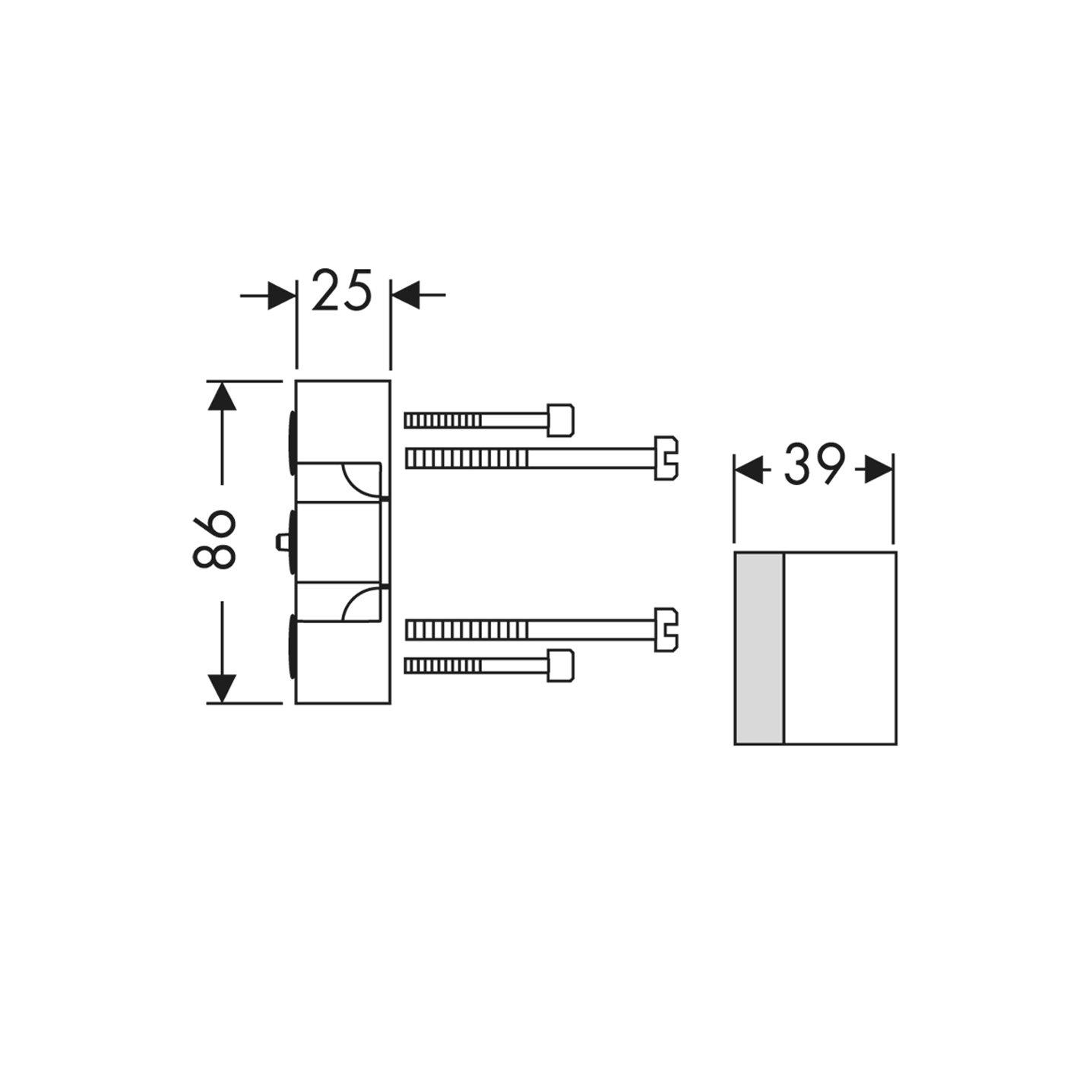 Hansgrohe Rallonge du corps dencastrement pour liBox universal 25/mm