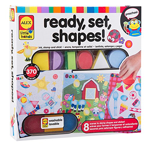 ALEX Toys Little Hands Ready Set Shapes (Foam Stamp Chunky)