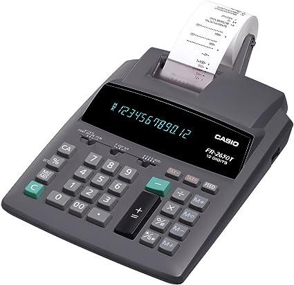 Casio FR-2650T - Calculadora impresora: Amazon.es: Oficina y papelería