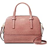 Kate Spade River Street Exotic Small Felix Embossed Leather Shoulder Bag - Rose Frost