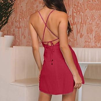 Qingsiy Vestido Mujer Verano Mini Vestido Fit Slim Casual De ...