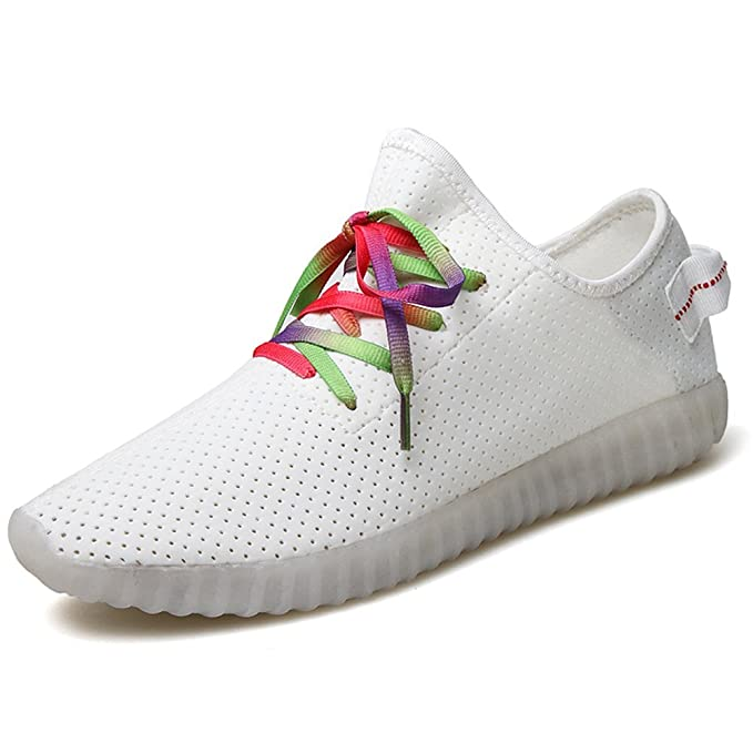 Mujer zapatillas de running para mujer Fitness Gimnasio Deportes Yeezy Boost - Zapatillas de golpes 36 - 41 [Blanco, 38]: Amazon.es: Ropa y accesorios