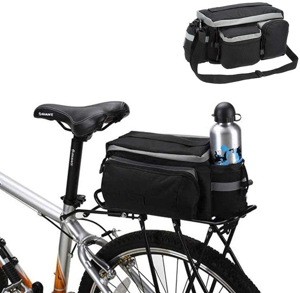 LED Universal Waterproof Cycling Bicycle Rear Seat Luggage Carrier Bag Bag