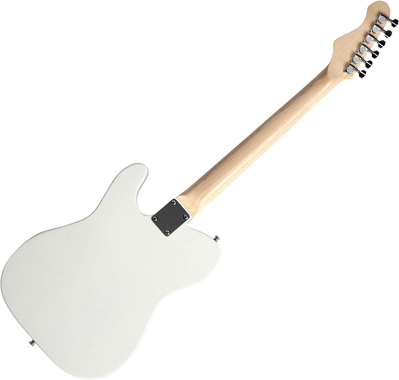 Set completo de guitarra eléctrica McGrey Rockit tipo TL en blanco ...