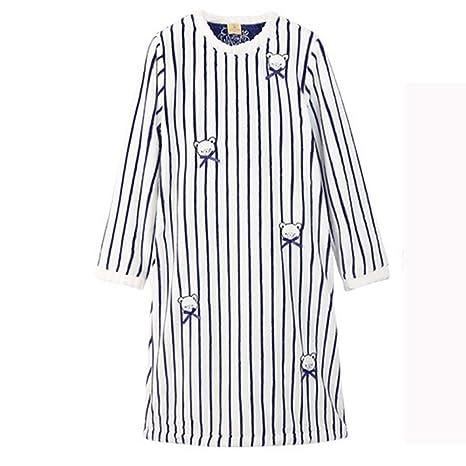 Albornoz Nan Liang Batas de Lujo para otoño e Invierno, Pijamas con Cuello Redondo,