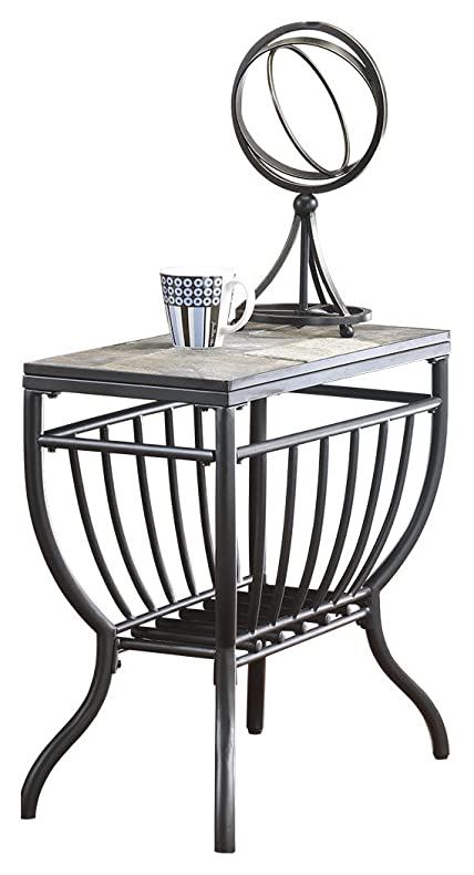 05b79d4df73 Ashley Furniture Signature Design - Antigo Chair Side End Table -  Contemporary - Slate Top with