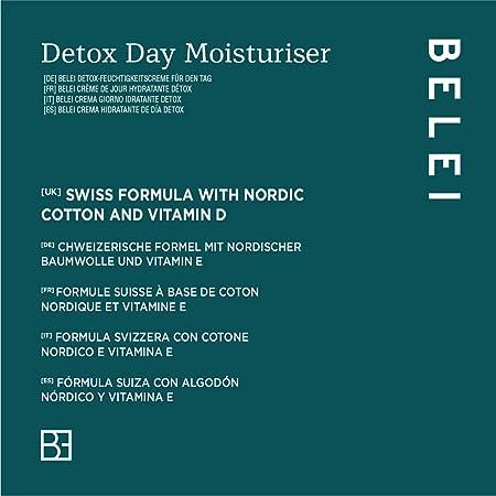 Marca Amazon - Belei Crema hidratante détox con FPS 15, 50ml