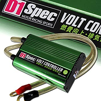 HIGH EFFICIENCY UNIVERSAL CAR BATTERY VOLTAGE STABILIZER REGULATOR+CABLE SILVER