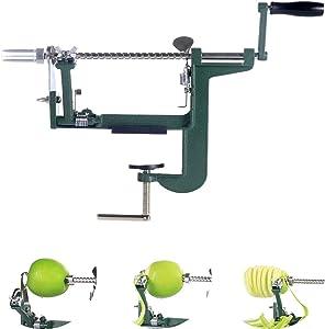 Gorgenius Apple Peelers,Apple Peelers and Corers Clamp Durable Stainless Steel Heavy Duty 2 Blade
