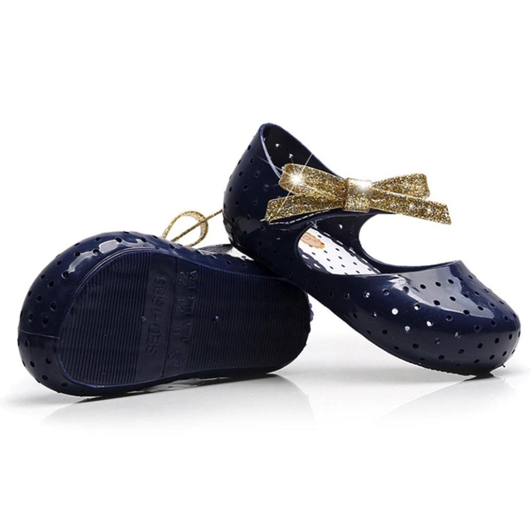 1.5-2T // US:6, Dark Blue Toddler Baby Girls Boys Sneaker Rubber Anti-Slip Bow Pricness Casual Single Shoes