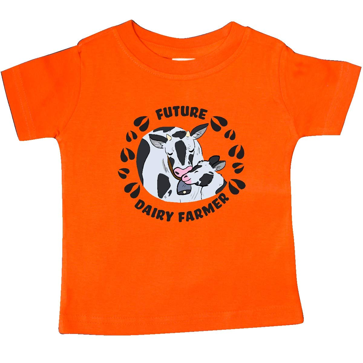 inktastic Future Dairy Farmer with Cute Black and White Holstein Baby T-Shirt