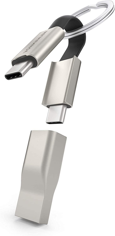 VONM/ÄHLEN High Five C Innovativer USB-A Konnektor inklusive Fast Charging und sicherem 480 MBit//s Datentransfer USB-C Ladekabel und Schl/üsselanh/änger aus Zink