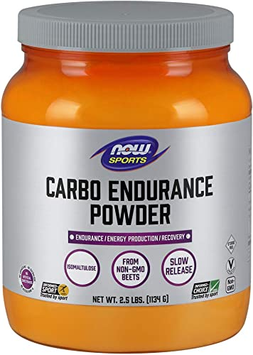 NOW Sports Nutrition, Carbo Endurance Powder Isomaltulose , Endurance* Energy Production* Recovery*, 2.5-Pound