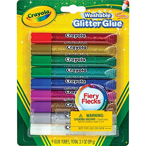 Crayola 9 Ct. Washable Bold Glitter Glue