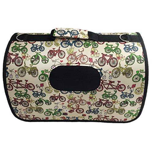Faltbare Transportbox für Hunde Katze Welpen Reise Transporttasche Tragetasche Haustier Wasserdichte Hundebox Hundetasche Fahrrad Muster M