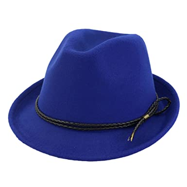 c373586eef9 doublebulls hats Trilby Hat Felt Fedoras Hat Women Men Autumn Classic Plain Jazz  Hat Curling Hats