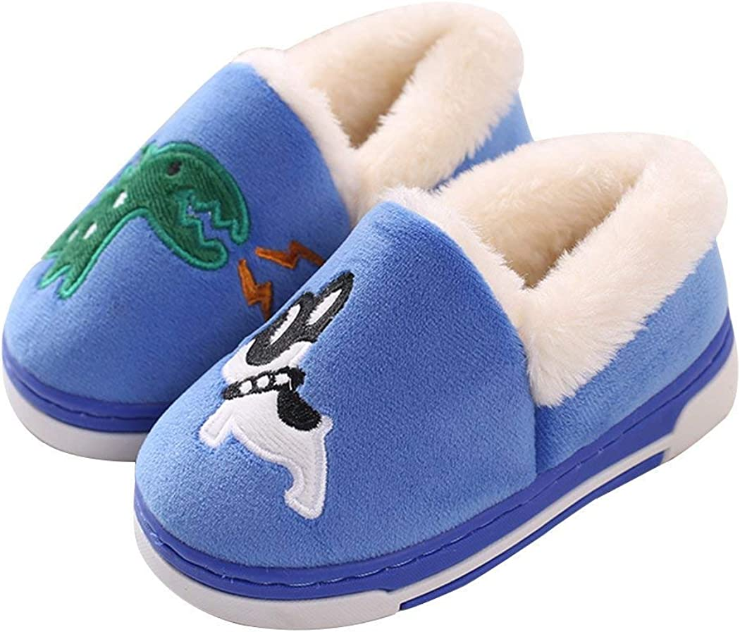 Cute Dinosaur Slippers Kids/Toddlers Family Cartoon Winter Warm House Slippers Booties