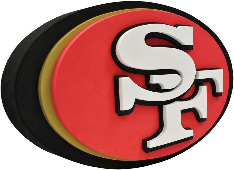 Amazon Com Nfl San Francisco 49ers 3d Foam Logo Sports Fan Home Decor Sports Outdoors