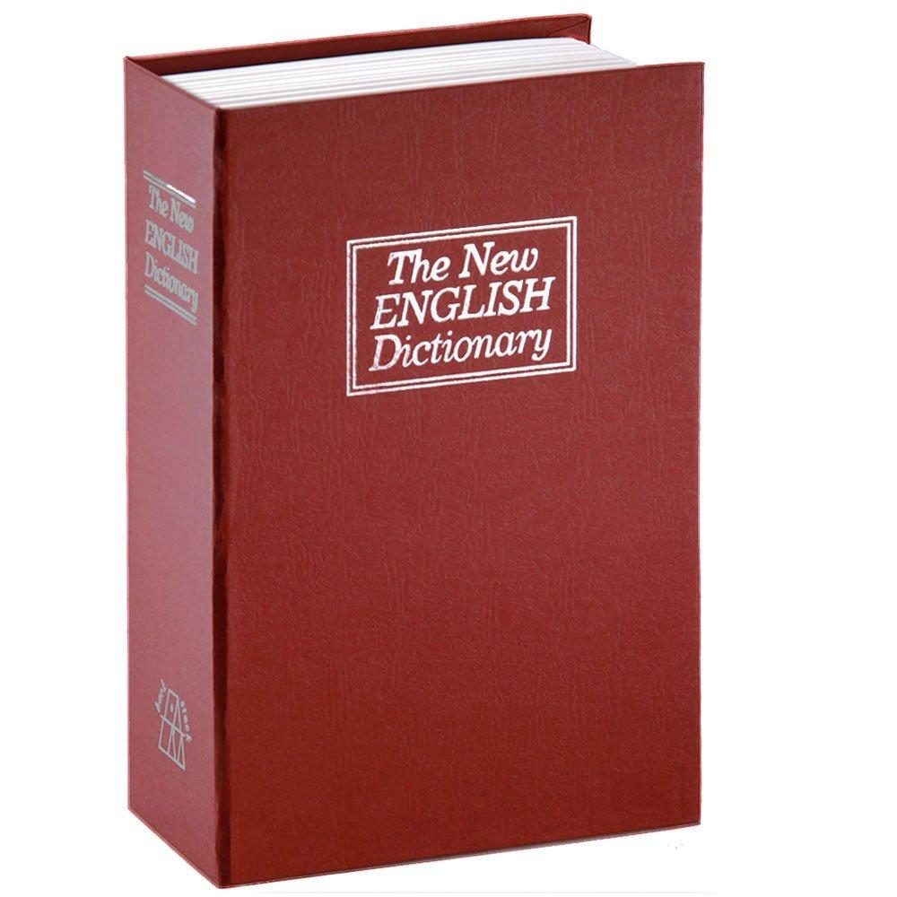 Diversion Book安全、辞書Secret Safeボックスwithキー、Diversion本Hidden Safe レッド B074W5TM5X Red-S-Key Red-S-Key