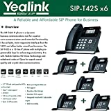 Yealink IPPhone SIP-T42S 6-Pack Dual-port Gigabit Ethernet PoE support