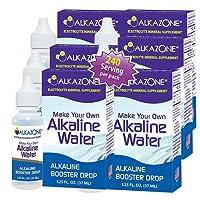 Alkazone Alkaline Water Drops Make Your Own Alkaline Water/Alkaline Booster Drop...