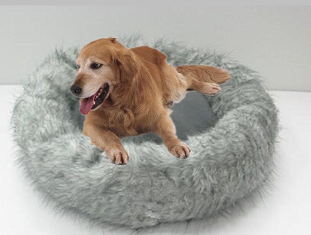 Gina Big Pet cama, piel sintética de peluche tela buena ...