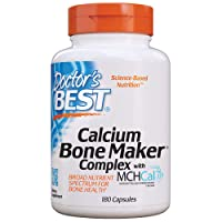 Doctor's Best Calcium Bone Maker Complex with MCHCal, Non-GMO, Gluten Free, Soy...