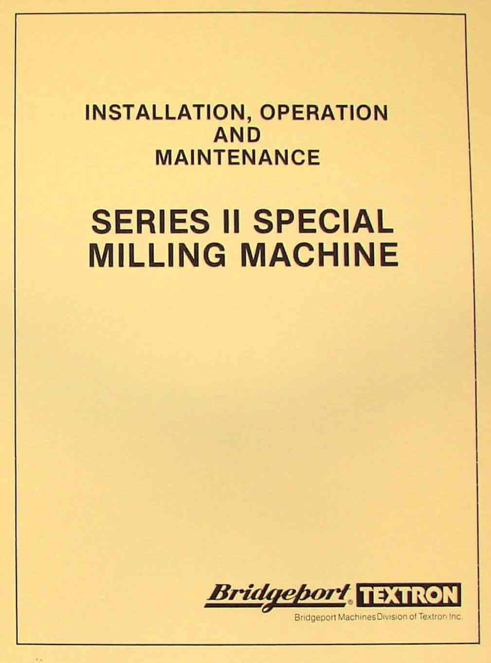 bridgeport wiring diagram bridgeport series ii special milling machine instructions parts  bridgeport series ii special milling