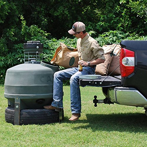 Capsule Ground Level Sit and Fill Deer Corn and Protein Feeder 800 lb. Capacity by Capsule Game Feeders by GreatMark (Image #4)
