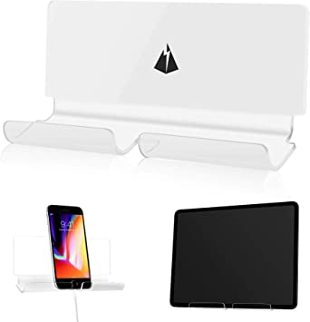 Adhesive Rack Wall Mount Universal Dock for Tablet Smartphone eReader Remote Control Holder Stick on Wall 3M Adhesive or Screws Installation Available Compatible with iPad Samsung Google Surface