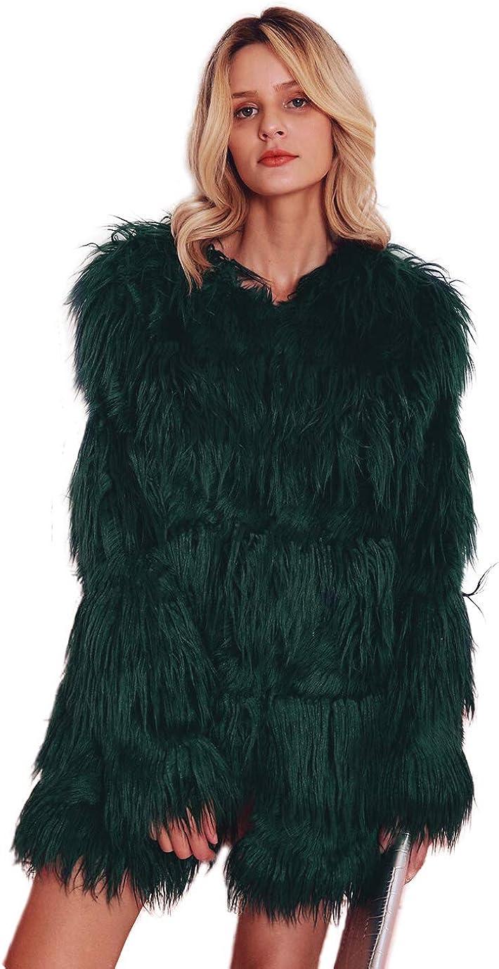 WarmCareCare Faux Fur Coat...