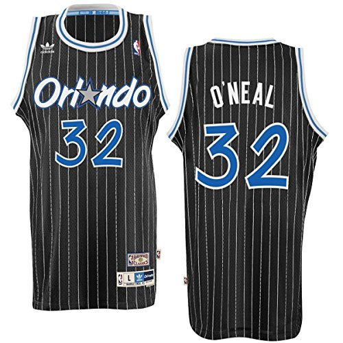 (Orlando Magic #32 Shaquille O'Neal NBA Soul Swingman Jersey, Black, Size: Large)
