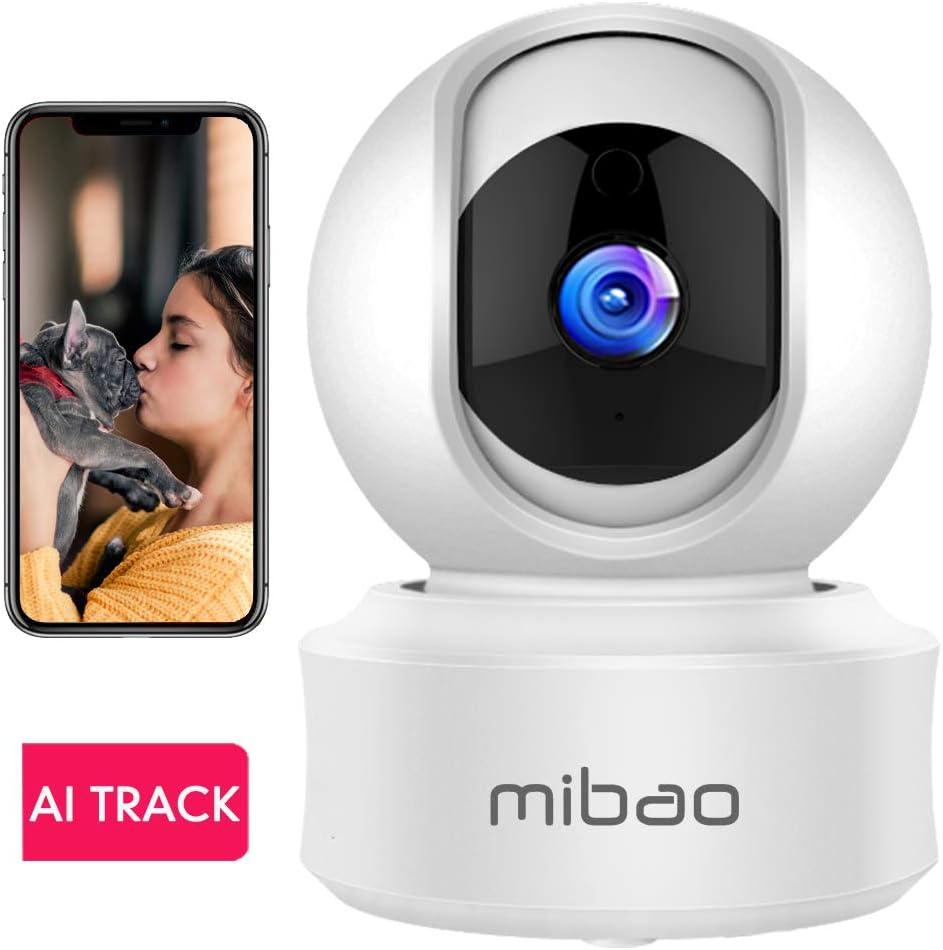 WLAN IP Kamera /Überwachungskamera 1080P,IP Kamera WiFi Mibao Nachtsicht 2 Wege-Audio Smart,Home Kamera//Haustier-Baby Kamera IP Kamera,App Steuerung unterst/ützt,Remote Alarm
