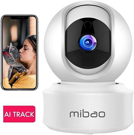 1080P Cámara De Vigilancia WiFi Interior, Mibao Cámara Vigilancia, HD Visión Nocturna, Detección de Movimiento Remoto, Alarma de Correo Electrónico, Audio Bidireccional, Monitor para Bebe/Perros: Amazon.es: Electrónica