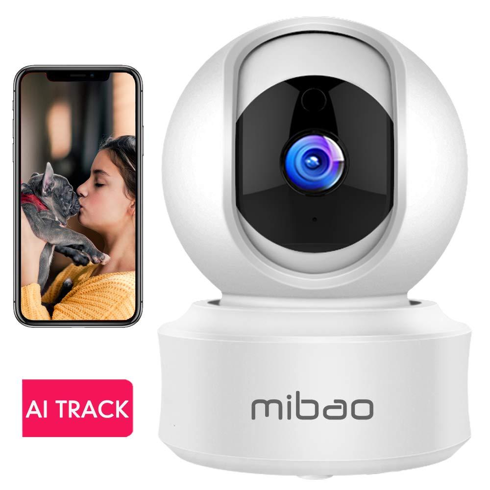 1080P Camaras De Vigilancia WiFi Interior Mibao Camara Vigilancia, HD Visión Nocturna, Detección de Movimiento Remoto, Alarma de Correo Electrónico, ...