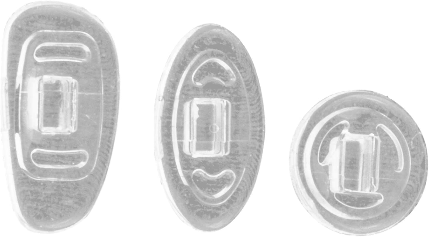 Edison /& King Plaquetas de Recambio para Gafas tama/ños y Materiales de Silicona y Titanio Varias Formas