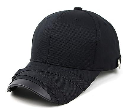 POPKORS Teamlife Cool Max Webbing Strap Visor Brim Mens Womens Baseball  Golf Cap Ball-Cap 296931cffd