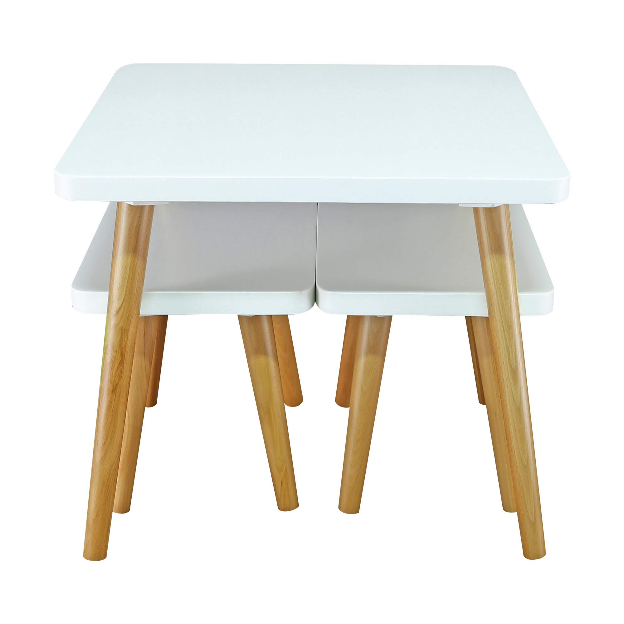 American Trails 560-31 The Easel Table & Chair Set Kid Table, Two-Tone (White, Natural) by American Trails (Image #6)