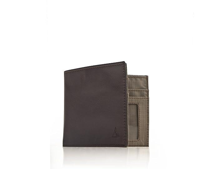 ALLETT Classic - Cartera de piel para documentos de identidad, color marrón