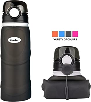 Kemier Collapsible Silicone Water Bottle