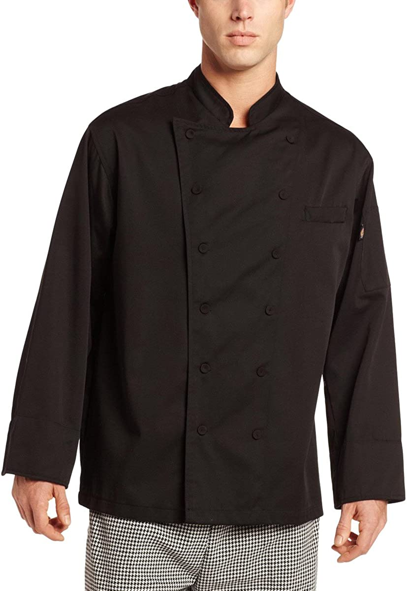 Large White Dickies Chef Executive Coat with Stain Repellent
