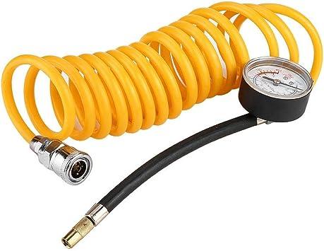 bomba de compresor de aire de doble cilindro para coche de 12V 150PSI 35L//min Inflador de neum/ático con man/ómetro Duokon Inflador de neum/áticos para coche