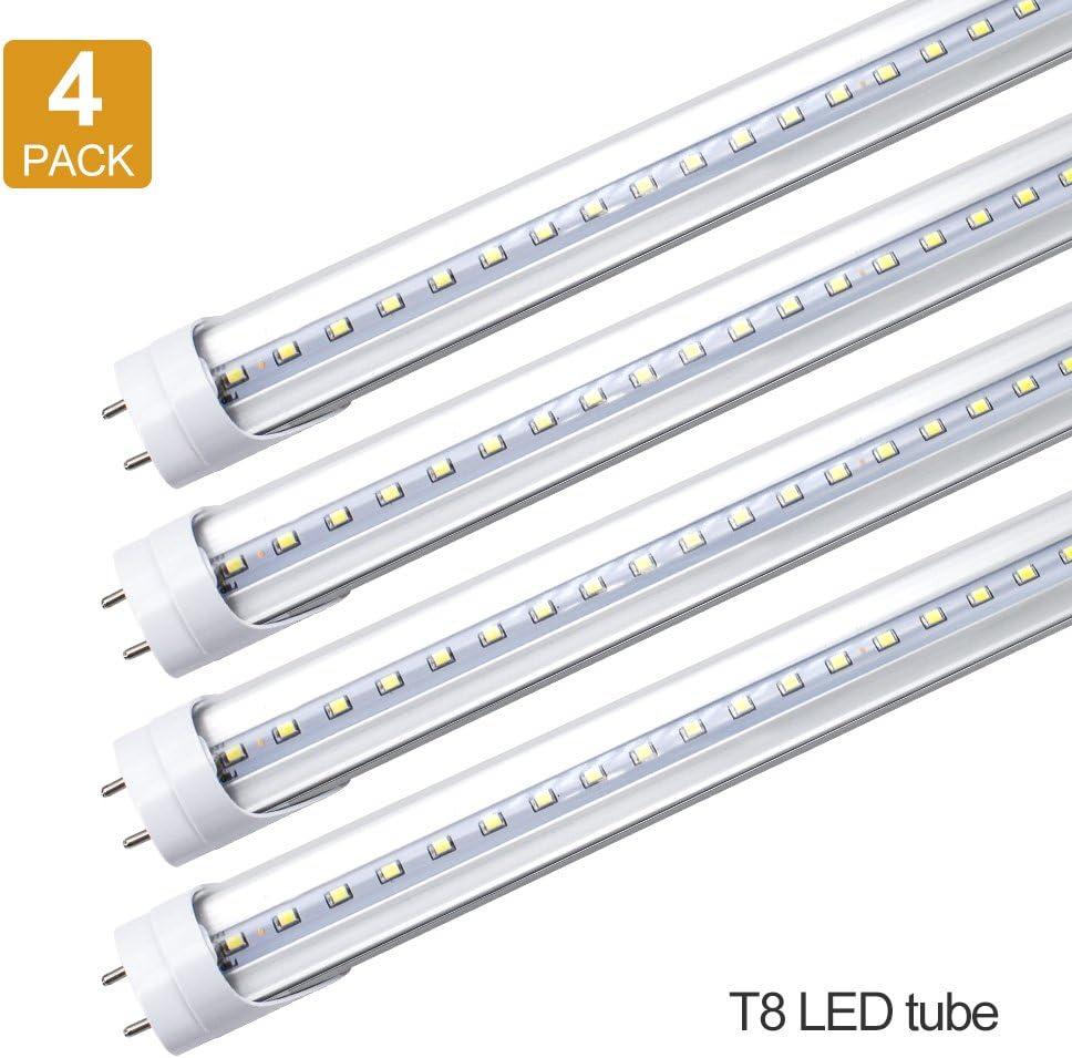 MILKY LENS SG 4 Foot T8 Bulbs 20W LED Tube Light Lamp Double-End Power CLEAR