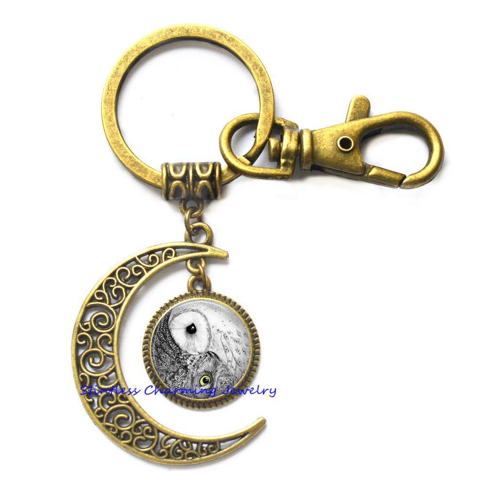 Llavero Yin Yang Moon, Yin Yang, llavero chino Yin Yang ...