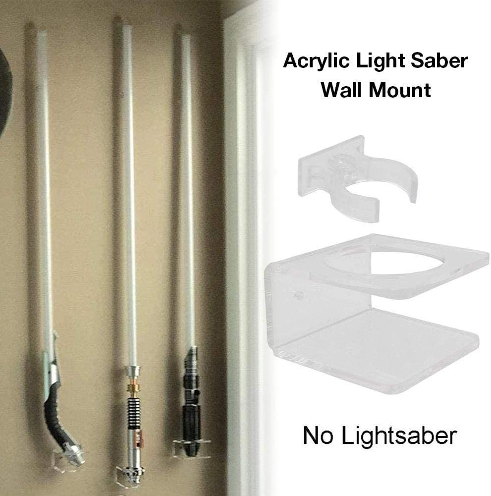 Acrylic Clear Light Saber Wall Mount,Saber Wall Display Rack Wall Holder Hardware Included
