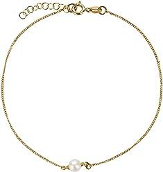 SL-Silver Fusskette Fusskettchen Perlkugel 925 Silber Vergoldet
