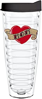 product image for Smile Drinkware USA-MOM TATTOO HEART 26oz Tritan Insulated Tumbler With Lid and Straw