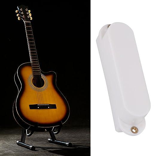 Alomejor Funda de plástico para Pastilla de Guitarra eléctrica de una Sola Bobina, sin Agujeros, Accesorio de Repuesto, Blanco: Amazon.es: Deportes y aire ...