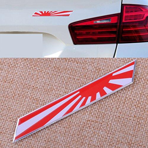 Love^Store - Exterior Decoration - New Car Front Grille Side Fender Window Trunk Japan Rising Sun Flag Emblem Plate Badge Car Styling 1 PCs ()