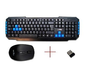 Kit Teclado y Ratón Inalámbricos Gaming USB 2.4Ghz 10m Ordenador PC Multilenguaje Windows Linux Mac: Amazon.es: Electrónica